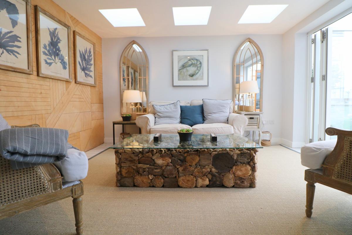 Trehelles Cornwall holiday cottage living room