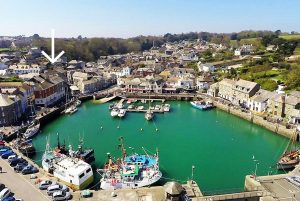 Cormorant holiday apartment Padstow Cornwall location