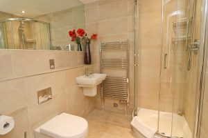 Harlyn Ocean Blue holiday apartment shower room