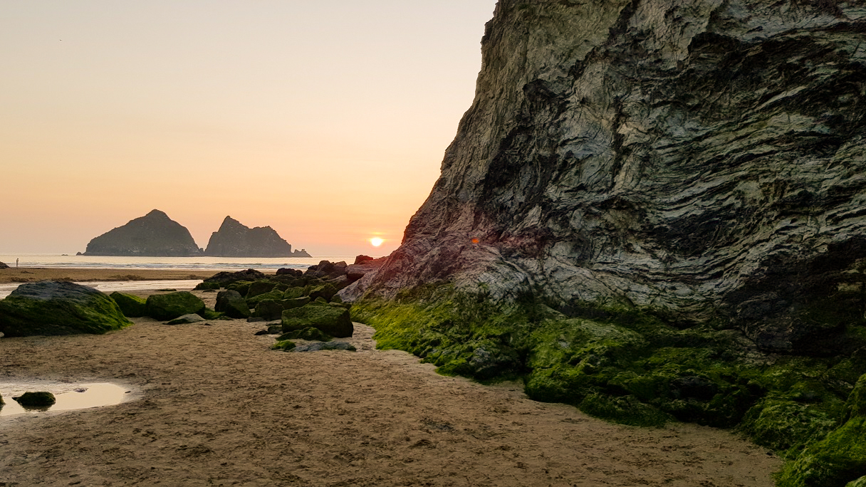 Holywell Bay Cornwall by Lucy Thornton