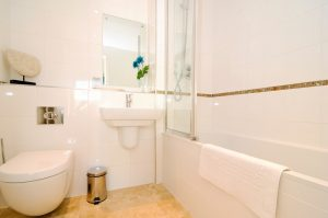 Quies Ocean Blue Holiday apartment Cornwall bathroom