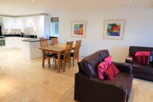 Trebetherick Ocean Blue Holiday apartment Cornwall sofas