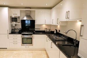 Trebetherick Ocean Blue Holiday apartment Cornwall kitchen