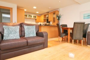 Trevarrian Ocean Blue Holiday apartment Cornwall sofas