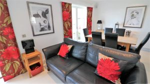 Trevose Ocean Blue Holiday apartment Cornwall sofas