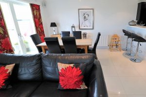 Trevose Ocean Blue Holiday apartment Cornwall dining open plan
