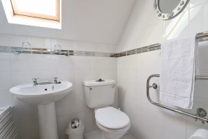 Kingfishers holiday cottage by the sea in Cornwall small bathroom