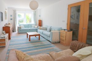 Waterhouse holiday home Cornwall light and airy lounge