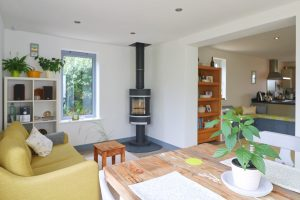 Waterhouse holiday home Cornwall wood burning stove