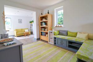 Waterhouse holiday home Cornwall sofa