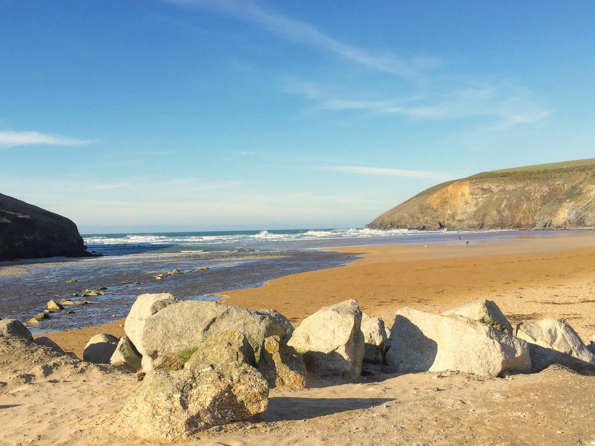 Mawgan Porth beach Cornwall