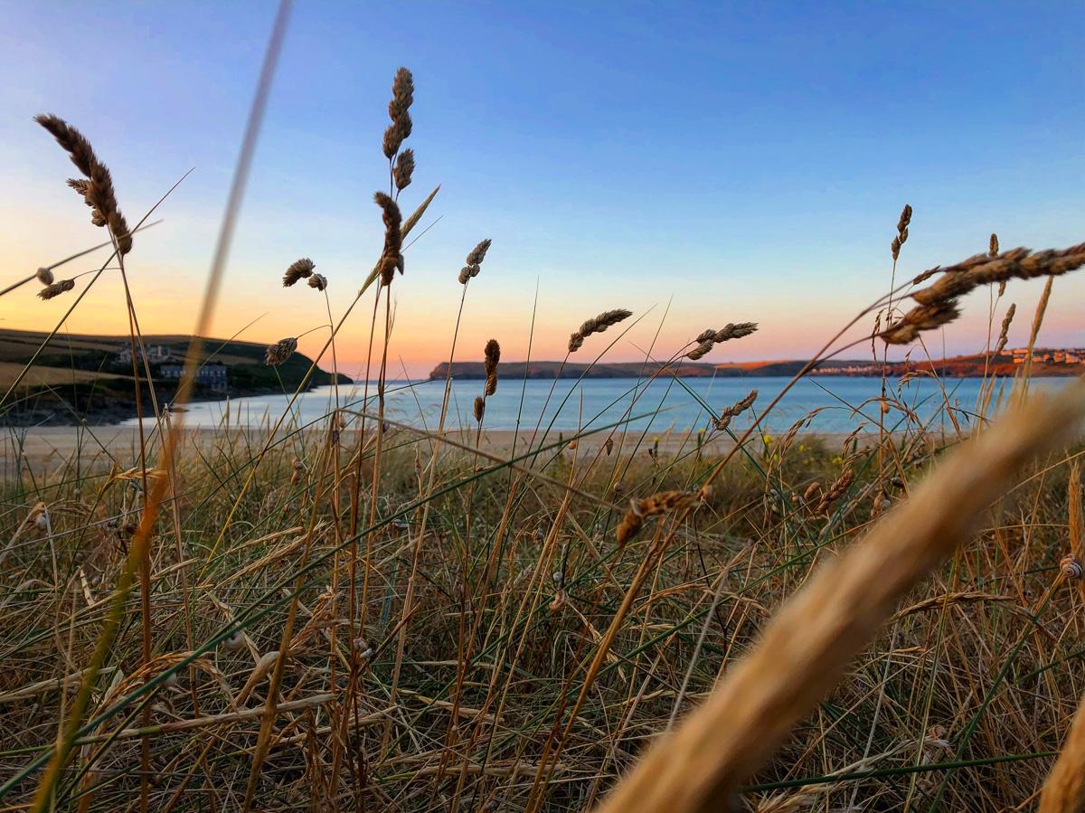 Tregirls beach near Padstow Cornwall