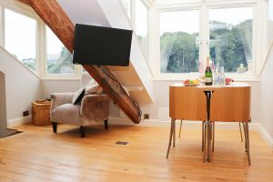 character holiday cottage in Padstow living area