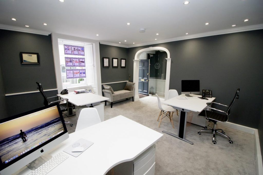 Cornish Holiday Cottage office interior